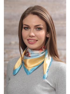 Платок FOMAS. Цвет: персиковый, голубой