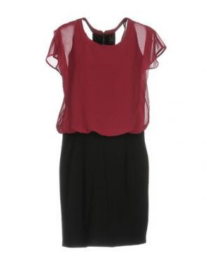 Короткое платье DUCK FARM. Цвет: пурпурный
