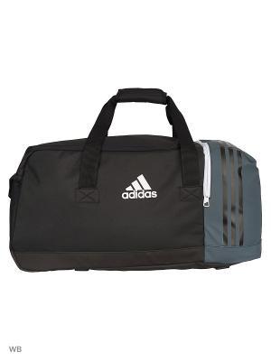 Спортивная сумка взр. TIRO TB M BLACK/DKGREY/WHITE Adidas. Цвет: серый