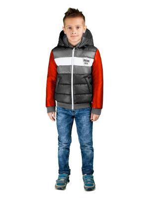 Куртка BOOM. Цвет: темно-серый, красный, белый, серый