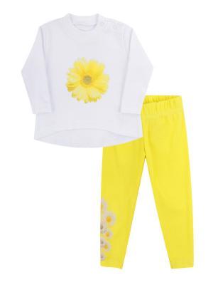 Набор одежды: туника, леггинсы Коллекция Ромашки КОТМАРКОТ. Цвет: желтый
