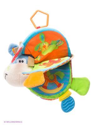 Мягкая игрушка книжка Ослик Playgro. Цвет: голубой, салатовый