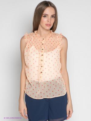 Блузка Le Temps des Cerises. Цвет: персиковый