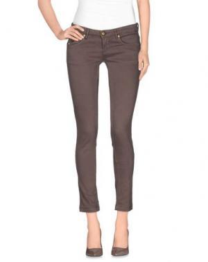 Джинсовые брюки DUCK FARM. Цвет: хаки