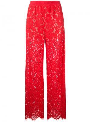 Кружевные брюки Goen.J. Цвет: красный
