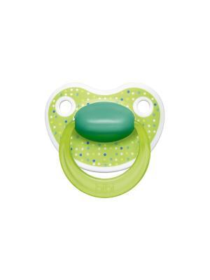 Пустышка Premium Dental силикон 0-6 мес. Happiness LovelyDots Bibi.. Цвет: зеленый