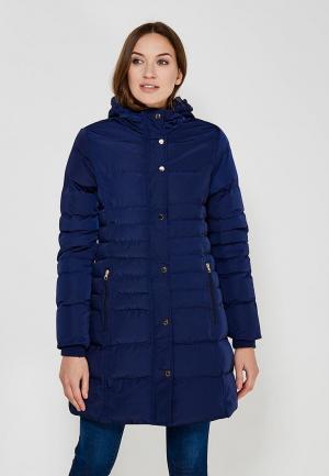 Куртка утепленная QED London. Цвет: синий