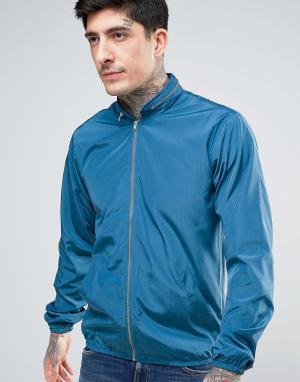 YMC Куртка с двойной молнией. Цвет: синий