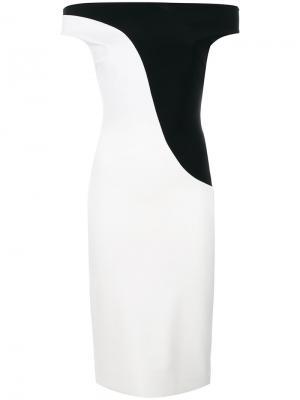 Bicolour fitted dress Chiara Boni La Petite Robe. Цвет: белый
