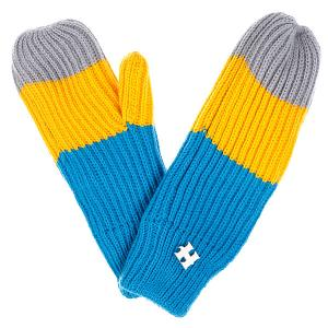 Варежки женские  Beatrice Gloves Yellow/Blue/Grey Harrison. Цвет: желтый,серый,синий