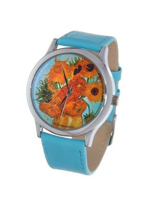 Часы Mitya Veselkov Подсолнухи Ван Гога. Цвет: серо-голубой