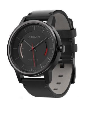 Умные часы vivomove Classic черный с кожаным ремешком GARMIN. Цвет: черный