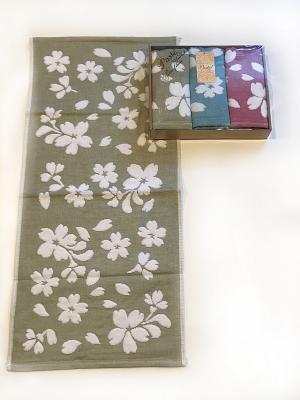 Набор двусторонних полотенец 3 предмета, 35х75. La Pastel. Цвет: серо-голубой, белый, бледно-розовый, розовый, серебристый, хаки