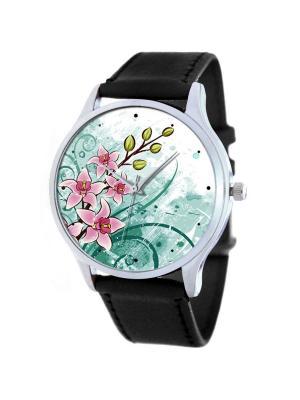 Дизайнерские часы Orchid Tina Bolotina. Цвет: черный, бирюзовый, морская волна, розовый