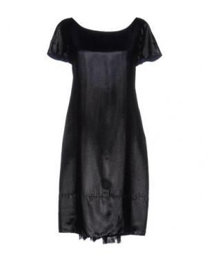 Короткое платье ALBINO. Цвет: черный