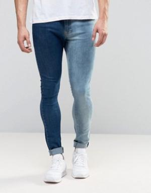 Brooklyn Supply Co. Двухцветные джинсы Co. Цвет: синий