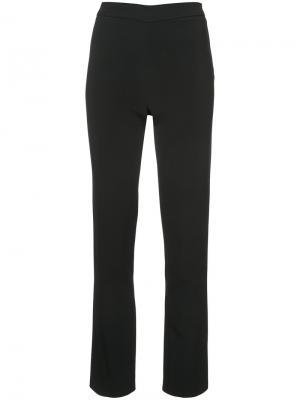 Эластичные брюки с боковой молнией Adam Lippes. Цвет: чёрный