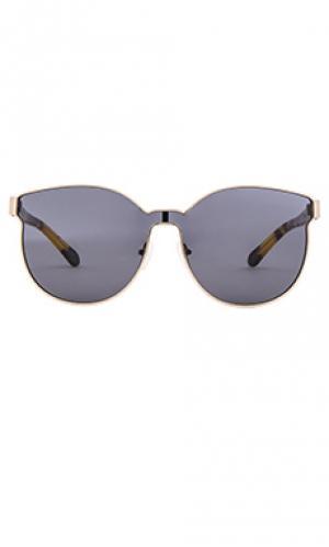 Солнцезащитные очки star sailor Karen Walker. Цвет: коричневый