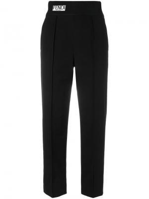 Укороченные брюки  с завышенной талией Fendi. Цвет: чёрный