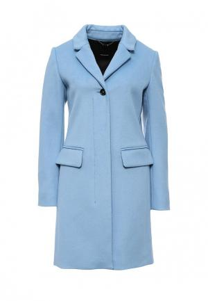 Пальто Pennyblack. Цвет: голубой