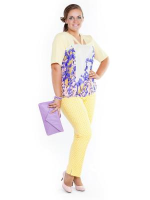 Блузка Lady Sharm Classic. Цвет: желтый