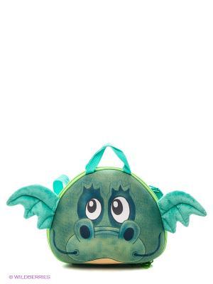 Сумка-зверушка  Дракончик Okiedog Wild Pack. Цвет: зеленый
