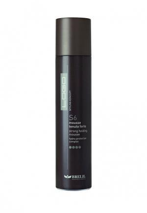 Мусс для укладки волос Brelil Professional. Цвет: черный