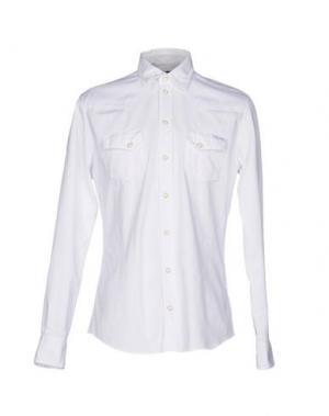 Джинсовая рубашка DOLCE & GABBANA. Цвет: белый