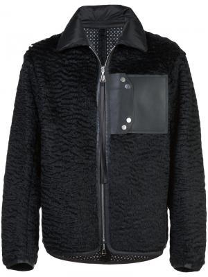 Куртка-бомбер с накладным карманом Oamc. Цвет: чёрный