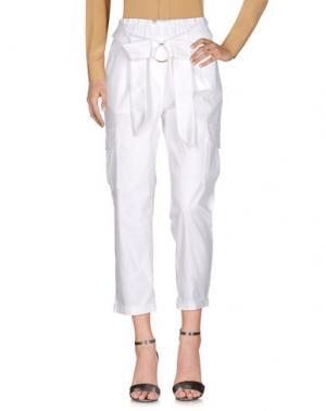 Повседневные брюки H2O ITALIA. Цвет: белый