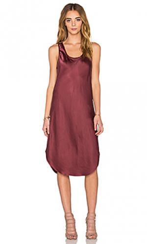 Платье-майка KES. Цвет: красное вино