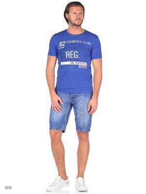 Футболка lawiggi. Цвет: серо-голубой