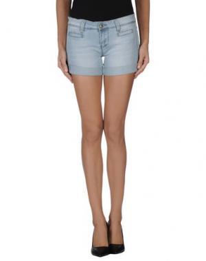 Джинсовые шорты YES ZEE BY ESSENZA. Цвет: синий