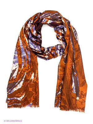 Платок Level Pro. Цвет: коричневый, индиго, темно-коричневый