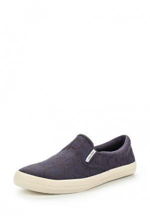 Слипоны Calvin Klein Jeans. Цвет: синий
