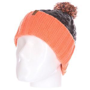 Шапка женская  Sienna Beanie Charcoal Celtek. Цвет: серый,оранжевый