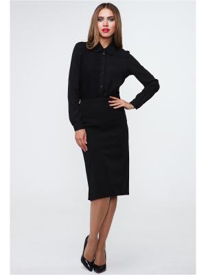 Блузка MARY MEA. Цвет: черный