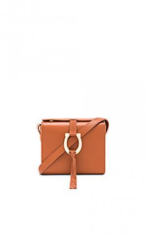 Мини-сумочка madelena Sancia. Цвет: коньяк
