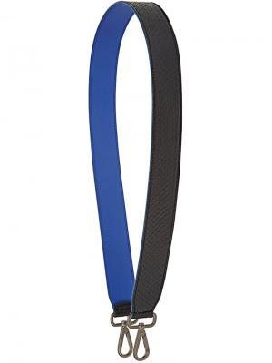 Embossed shoulder strap Fendi. Цвет: синий