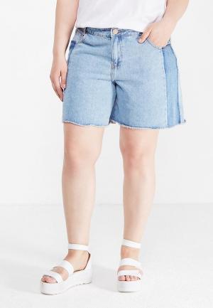 Шорты джинсовые LOST INK PLUS. Цвет: голубой