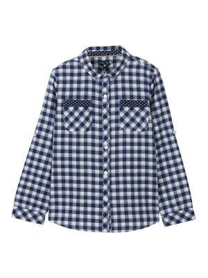 Рубашка Endo. Цвет: темно-синий