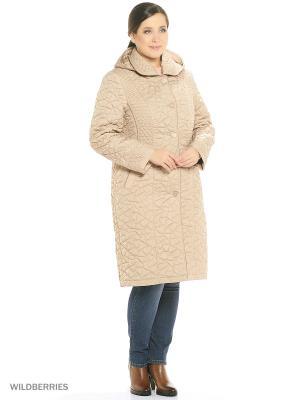 Утепленное пальто MONTSERRAT. Цвет: бежевый, горчичный