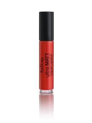 Помада для губ жидкая матовая Ultra Matt Liquid Lipstick 21 7мл ISADORA. Цвет: оранжевый, красный