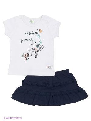 Комплект одежды Teidem. Цвет: темно-синий, белый