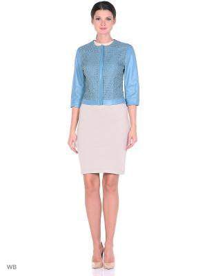 Кожаная куртка MONDIAL. Цвет: синий
