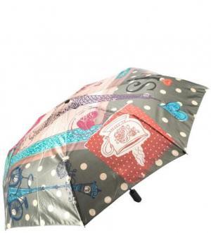 Складной зонт с сатиновым куполом FLIORAJ. Цвет: мультиколор