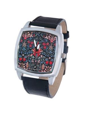 Часы Mitya Veselkov Тюльпановй принт. Цвет: черный