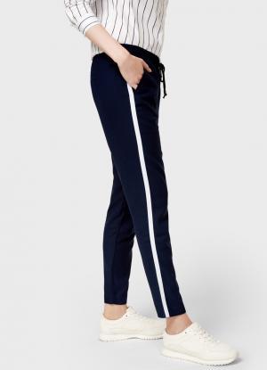 Свободные брюки OSTIN. Цвет: темно-синий