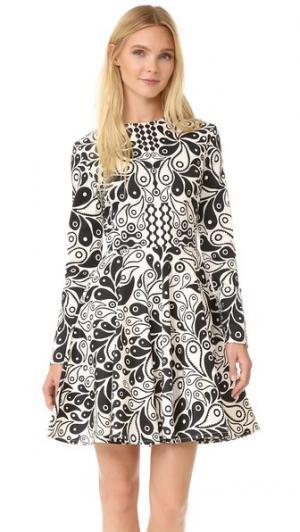 Платье Kiki с длинными рукавами Holly Fulton. Цвет: белый