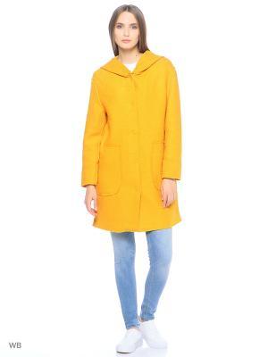 Пальто Modis. Цвет: светло-оранжевый, горчичный
